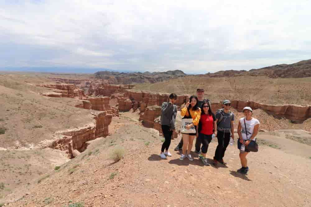 Group tour to Charyn Canyon